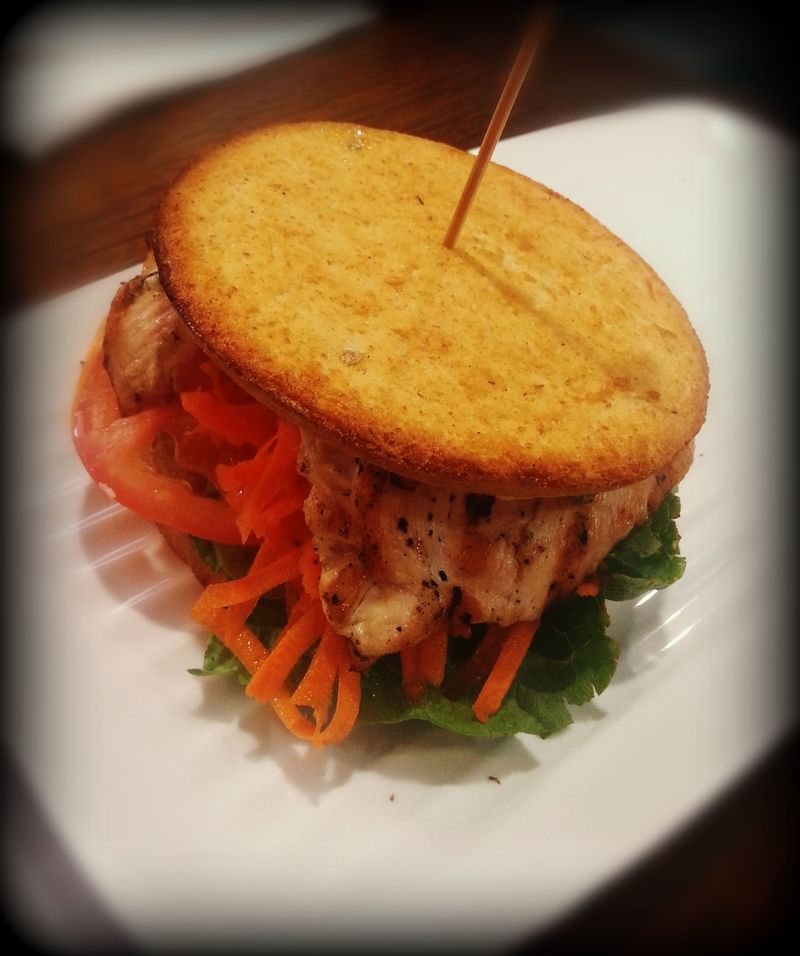 GF and Low carb Grill'd chicken burger  - CBD Hotspots for a Gluten-Free Lunch