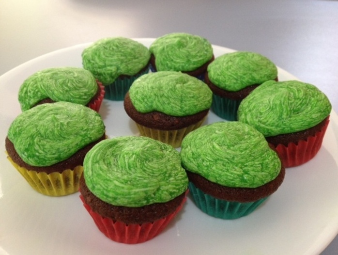 st paddy's mint chocolate chip cupcakes